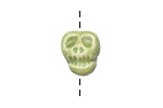 Gaea Ceramic Juju Lime Skull Bead 14-15x11-12mm