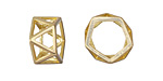 Satin Hamilton Gold (plated) Geometric Openwork Ring 8x16mm