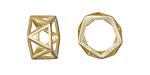 Zola Elements Satin Hamilton Gold (plated) Geometric Openwork Ring 8x16mm