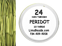 Parawire Peridot 24 Gauge, 10 Yards