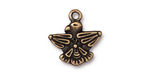 TierraCast Antique Brass (plated) Thunderbird Charm 18x19mm