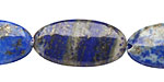 Lapis Flat Oval 29-30x15-16mm