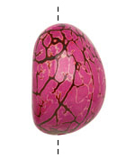 Tagua Nut Hot Pink Nugget 40-45x32-36mm