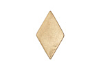 Zola Elements Matte Gold (plated) Diamond 7mm Flat Cord Slide 14x24mm