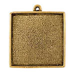Nunn Design Antique Gold (plated) Grande Square Bezel Pendant 34x39mm