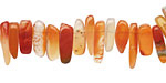 Carnelian (nat.) Stick Drops 4-8x12-18mm