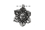 Green Girl Pewter Flower Fairy Pendant 20x25mm