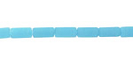 Opaque Blue Opal Recycled Glass Tube 8x4mm