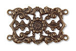 Vintaj Natural Brass Filigree Base 41x25mm