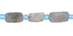 Labradorite (matte) Elongated Tumbled Nugget 9-14x6-9mm
