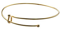 Add-a-Charm Matte Gold (plated) 3mm Ball Expandable Bracelet