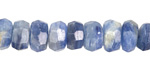 Kyanite Faceted Rondelle 4-6x8-10mm