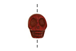 Red Magnesite Skull 17-18x14mm