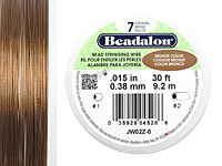 "Beadalon Bronze .015"" 7 Strand Wire 30ft."