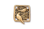 TierraCast Antique Gold (plated) Botanical Bird Link 18x21mm