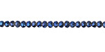 Black Diamond w/ Blue Luster Crystal Faceted Rondelle 3mm