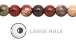 Apple Jasper Round (Large Hole) 8mm
