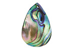 Abalone Curved Teardrop Pendant 19-20x29-30mm