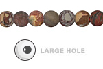 Red Creek Jasper (matte) Round (Large Hole) 8mm