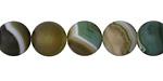 Green Line Agate (matte) Round 10mm