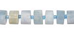 Aquamarine (Multi) Faceted Disc 5-8x9-10mm