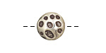Saki White Bronze Textured Impressions Button 13mm