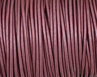 Berry (metallic) Round Leather Cord 2mm
