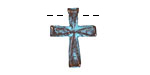 Greek Copper (plated) Patina Cross 15x20mm
