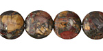 Red Creek Jasper w/ Pyrite Puff Coin 14mm