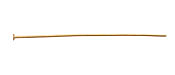 "Satin Hamilton Gold (plated) Headpin 2"", 20 gauge"