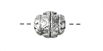 Zola Elements Antique Silver (plated) Decorative Rice 15x13mm