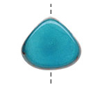 Tagua Nut Turquoise Thick Slice 16-18x26-32mm