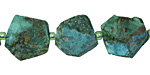 Chrysocolla Natural Cut Ocatagon Slice 15-18x14-18mm