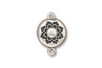 TierraCast Antique Silver (plated) Lotus Magnetic Clasp 14x20mm