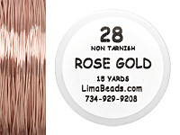 Parawire Rose Gold 28 Gauge, 15 Yards