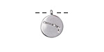 Rhodium (plated) w/ Crystals Aries Constellation Charm 11x13mm