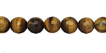 Tiger Eye Faceted Round 8mm