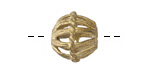 African Brass Basket Cage Bicone 15-17x15mm
