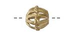 African Brass Basket Cage Bicone 15-17x15mm