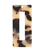 Zola Elements Light Tortoise Shell Matte Acetate Rectangle Donut 22x49mm
