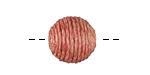 Desert Rose Thread Wrapped Bead 14mm