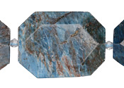 Pacific Blue Apatite Faceted Flat Slab 28-38x22-30mm