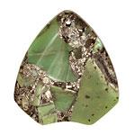 Chrysoprase & Pyrite Arrowhead Pendant 40x45mm