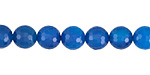 Cobalt Agate Faceted Round 8mm
