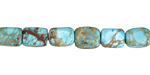 Turquoise Impression Jasper Tumbled Nugget 8-9x6mm