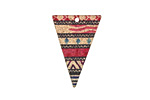 Aztec Sunset Etched & Printed Rose Gold Finish Elongated Triangle Focal 18x25mm