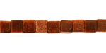 Goldstone Cube 6mm