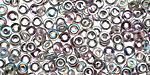 Czech Glass Luster Pink Confetti AB O-Bead 1x4mm