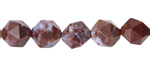 Red Lightning Agate Star Cut Round 10mm