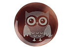 Lillypilly Gray Owl Tab Shell Round Cabochon 31mm